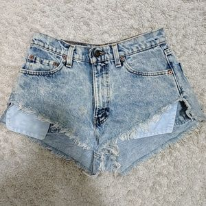 Levis High waisted Jean Shorts (Urban Outfitters)